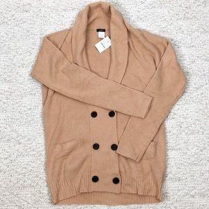 NWT J Crew Beige Double-Breasted Cardigan Small